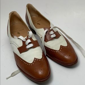 Polo Ralph Lauren Tan Leather Lace Oxford Size 8 A